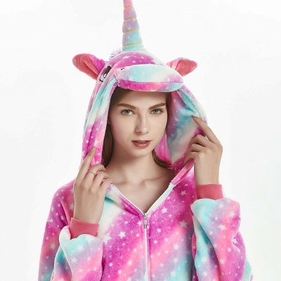 Downy Adult Coloful Onesies Pajamas for Women_16