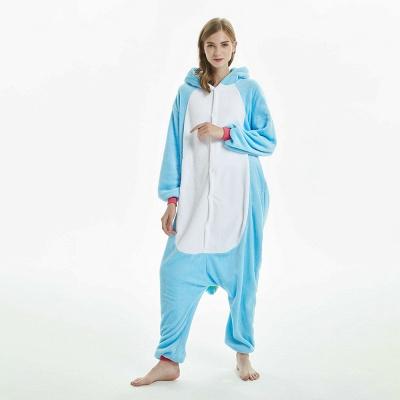 Downy Adult Sky Blue Unicorn Onesies Sleepwear for Girls_11
