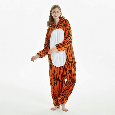 Lovely Adult Tiger Onesies Pajamas for Women_7
