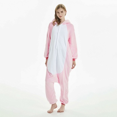 Cute Adult Pink Unicorn Onesies Sleepwear for Girls_8
