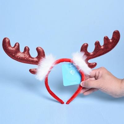 Christmas Decoration Lovely Wapiti Deer Headhand_2