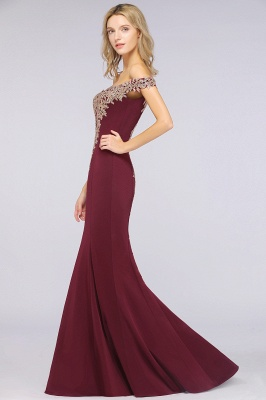 Simple Off the Shoulder Appliques Fitted Floor Length Evening Gown_40