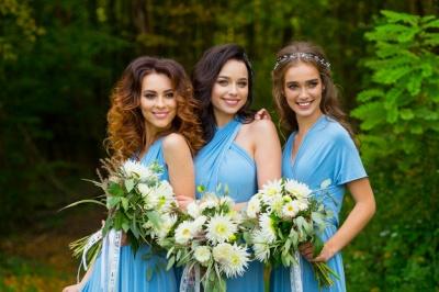 Convertible Blue Long Bridesmaid Dresses | Sexy Maid of Honor Dresses_7