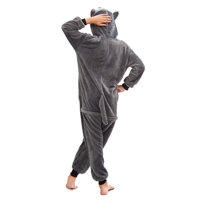 Lovely Pajamas Sleepwear for Boys Huskie Onesie, Grey_4