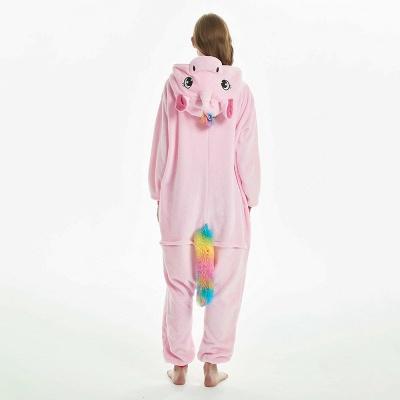 Cute Adult Pink Unicorn Onesies Sleepwear for Girls_3