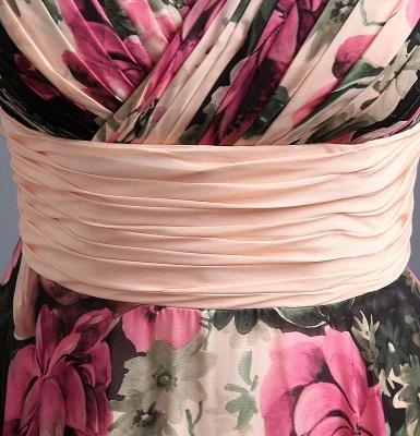 A-Line Chiffon Printed Ruffles Evening Dress On Sale_5