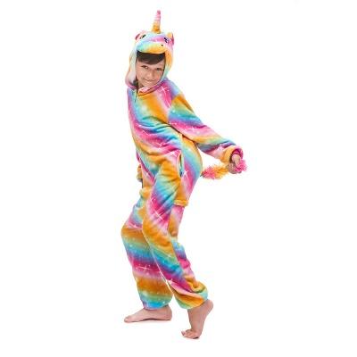 Lovely Pajamas Sleepwear for Kids Unicorn Onesies, Rainbow_2
