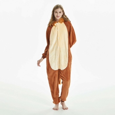 Super Soft Adult Lion Brown Onesies Pajamas for Girls_13