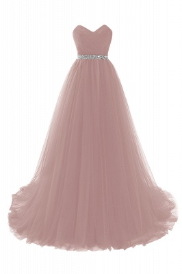 Cheap modest sweetheart sleeveless beading a-line prom dress in Stock_2