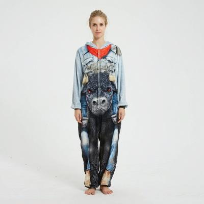 Cute Animal Pyjamas Hoodie Onesies for Women_1
