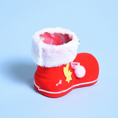 Christmas Decoration, Red Textile Sock_4