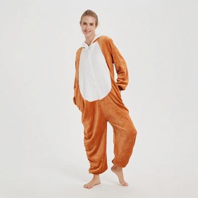 Cute Sleepwear for Women Brown Hoodie Onesies_10
