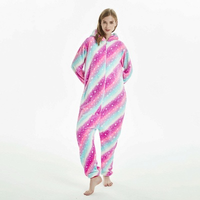 Downy Adult Coloful Onesies Pajamas for Women_12