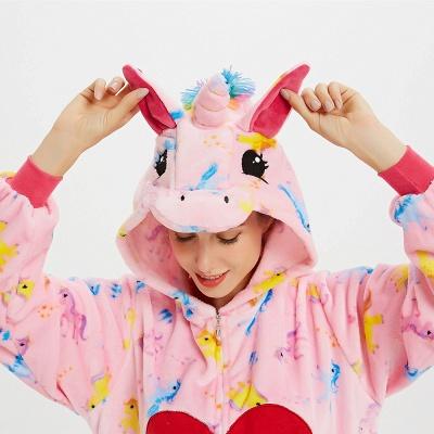 Cute Pyjamas for Women Unicorn Onesies, Pink_19