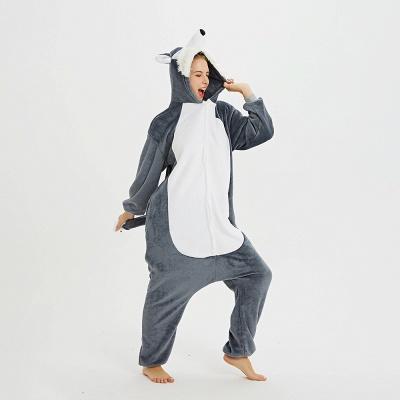 Lovely Pajamas Sleepwear for Women Huskie Onesie, Dark Grey_19
