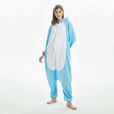 Downy Adult Sky Blue Unicorn Onesies Sleepwear for Girls_15