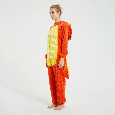 Adorable Adult Pyjamas for Women Triceratops Onesie, Orange_2