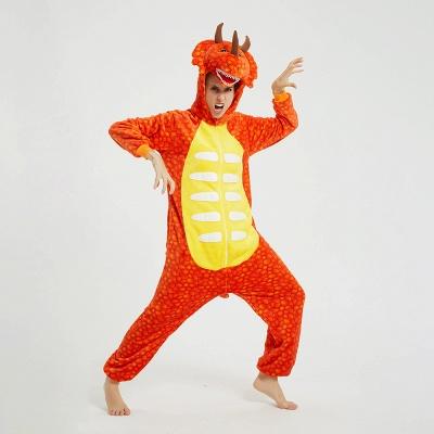 Adorable Adult Pyjamas for Women Triceratops Onesie, Orange_8