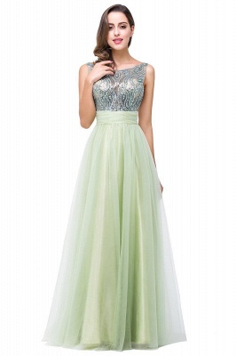 Scoop-Neckline Long Crystal A-line Charming Sleevless  Prom-Dress_3