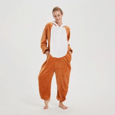 Cute Sleepwear for Women Brown Hoodie Onesies_17