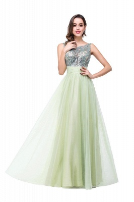 Scoop-Neckline Long Crystal A-line Charming Sleevless  Prom-Dress_8