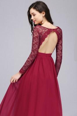 Elegant A-line Chiffon Lace Long Sleeves Evening Dress On Sale_4