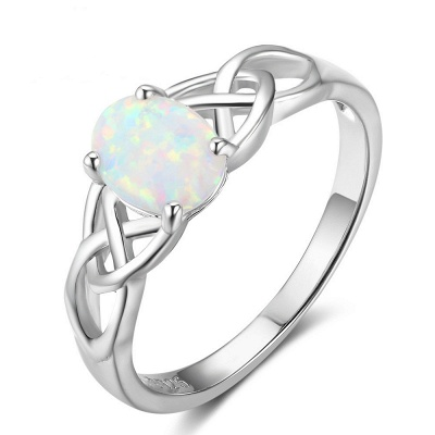 Chic Sterling Silver Ring Jewelry_1