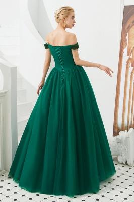 Off the Shoulder Sweetheart Jade A-line Long Prom Dresses | Elegant Evening Dresses_10