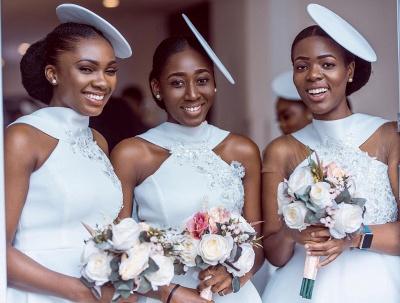 Tea Length A-line Sleeveless Elegant Bridesmaid Dresses | Affordable Maid of Honor Dresses_10