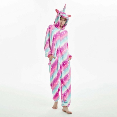 Downy Adult Coloful Onesies Pajamas for Women_14