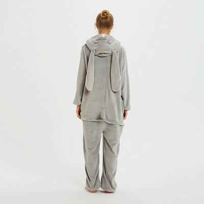 Adorable Adult Pyjamas for Women Long Ears MashiMaro Onesie, Grey_11