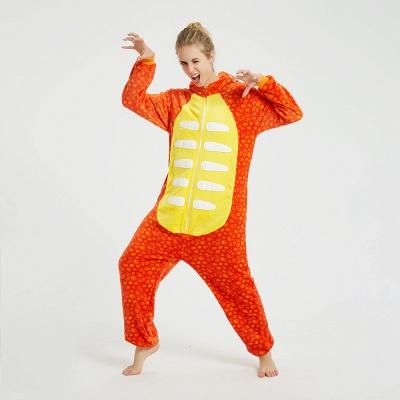 Adorable Adult Pyjamas for Women Triceratops Onesie, Orange_3