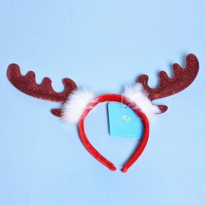 Christmas Decoration Lovely Wapiti Deer Headhand_1