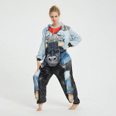Cute Animal Pyjamas Hoodie Onesies for Women_10
