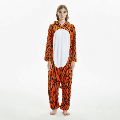 Lovely Adult Tiger Onesies Pajamas for Women_3