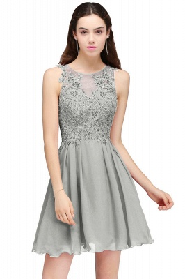 Cheap Burgundy A-line Homecoming Dress with Lace Appliques in Stock_5
