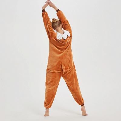 Cute Sleepwear for Women Brown Hoodie Onesies_15