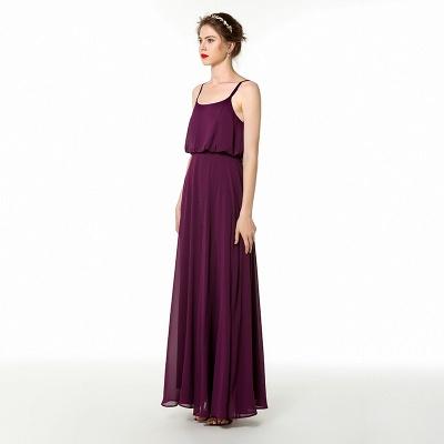 Spaghetti Straps Front Slit Long Chiffon Prom Dresses | Floor Length Evening Dresses Online_3
