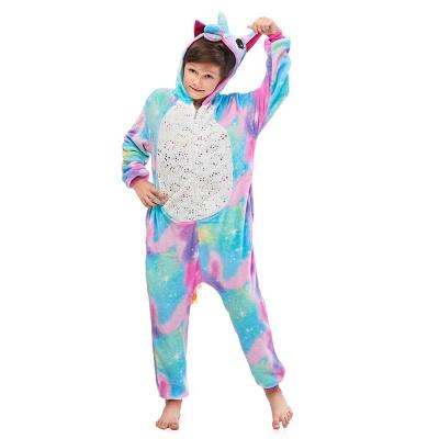 Cute Animal Sleepwear Unicorn Onesie, Rainbow_4