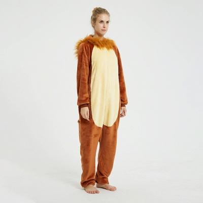 Cute Animal Pyjamas for Women Lion Onesies, Brown_11
