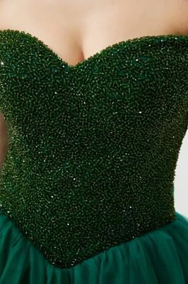 Off the Shoulder Sweetheart Jade A-line Long Prom Dresses | Elegant Evening Dresses_12