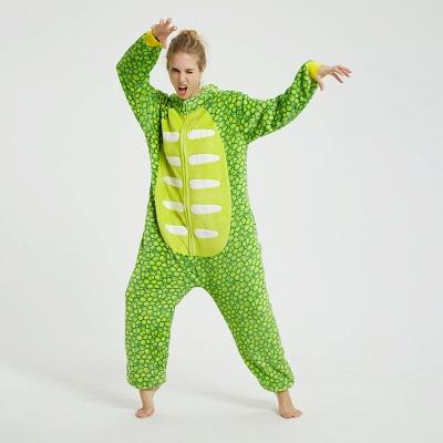Cute Animal Pyjamas for Women Triceratops Onesie, Green_5