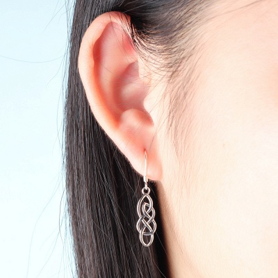 Chic Alloy Plated Ladies' Earrings Jewelry_4