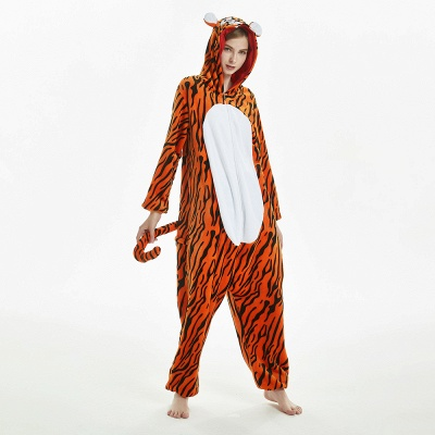 Lovely Adult Tiger Onesies Pajamas for Women_18