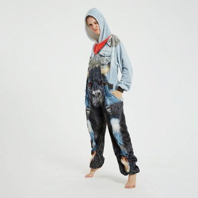 Cute Animal Pyjamas Hoodie Onesies for Women_12