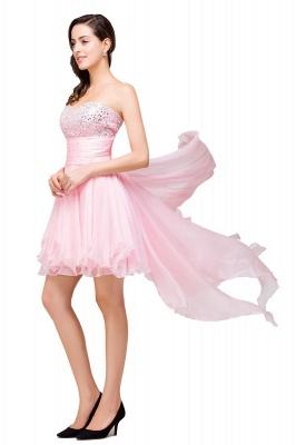New Arrival A-Line Mini Crystal Sweetheart Ruffles  Homecoming Dress_3