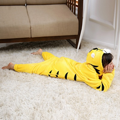 Cute Animal Pyjamas for Kids Tiger Onesies, Yellow_5