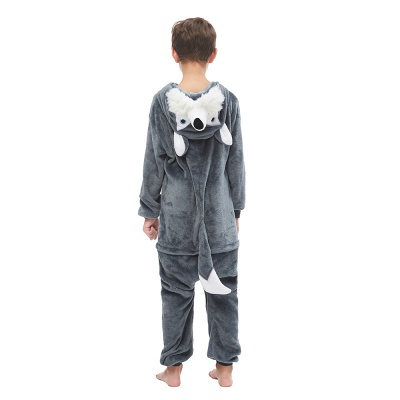 Cute Animal Pyjamas for Boys Huskie Onesie, Dark Grey_3