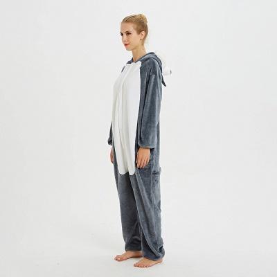 Lovely Pajamas Sleepwear for Women Huskie Onesie, Dark Grey_2