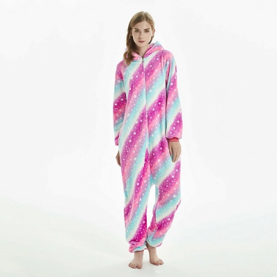 Downy Adult Coloful Onesies Pajamas for Women_7